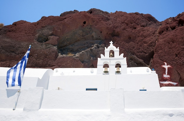 Churchl at red beach, santorini