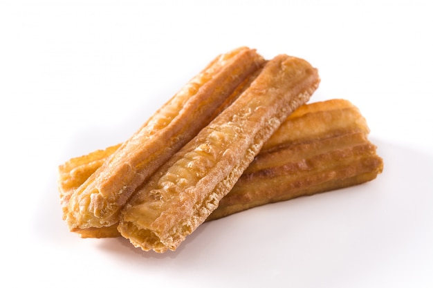 Churros on white surface