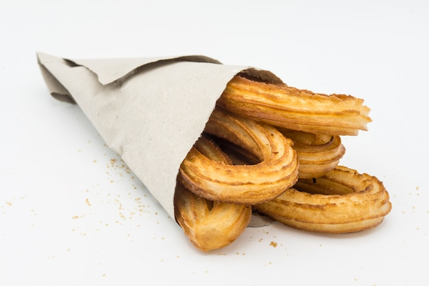Churros with chocolat typical  sweet spanish