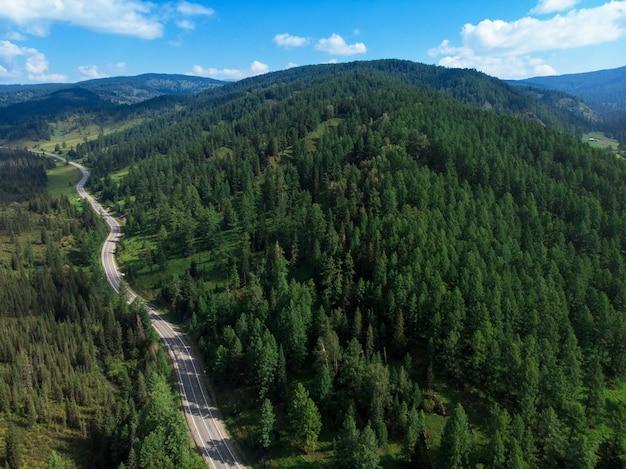 Chuysky trakt road in the altai mountains