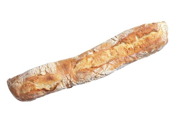 흰색 배경에 고립 된 치아바타 빵