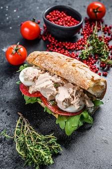 Ciabatta sandwich with liver pate