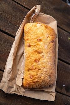 Ciabatta wheat flour bread sourdough yeast olive oil italian recipe fresh portion ready to eat
