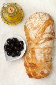 Ciabatta with olives