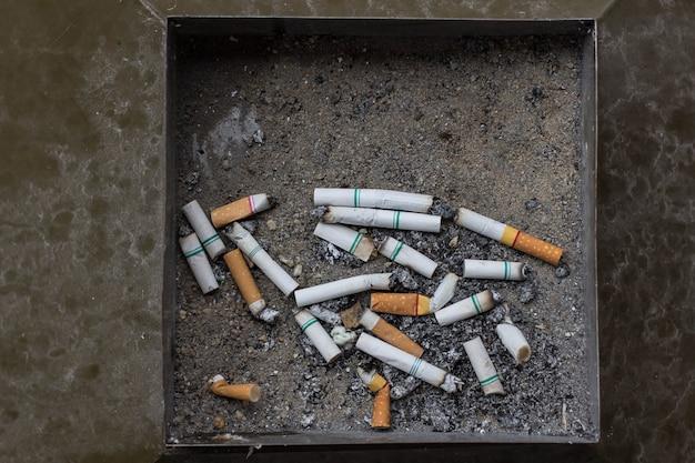 ごみのタバコ灰皿フィルター