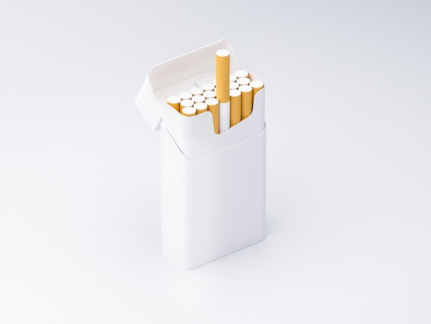 タバコ箱3d空白のテンプレート