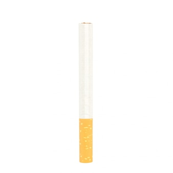 Cigarette burn isolated on white