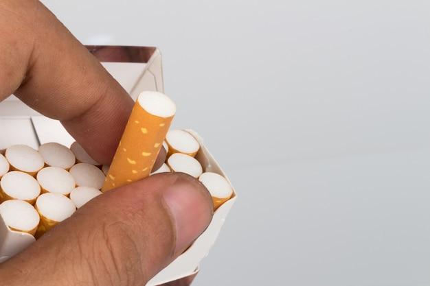 タバコパックのクローズアップ