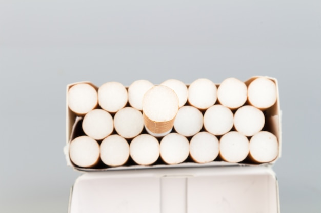 Cigarette pack closeup
