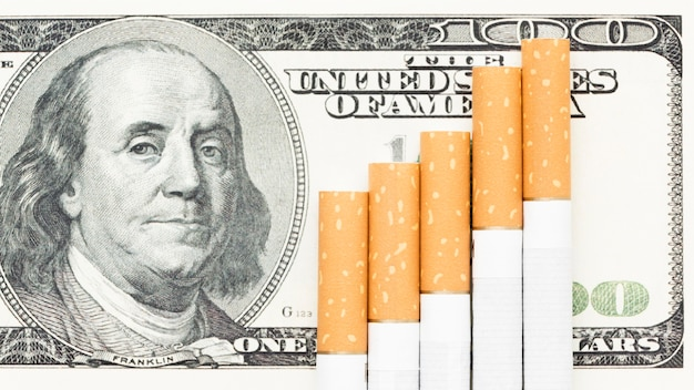 Cigarettes on bills