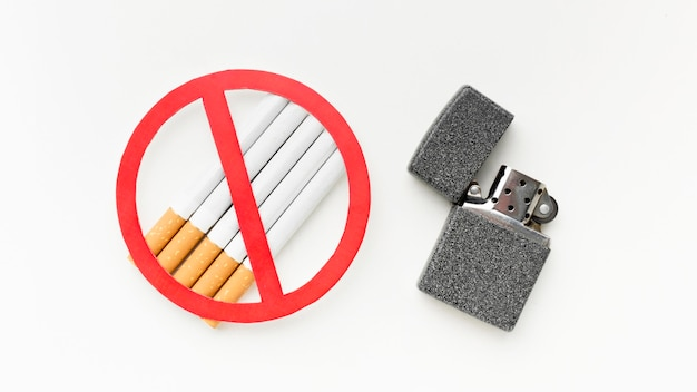 Cigarettes with lighter message to stop habit