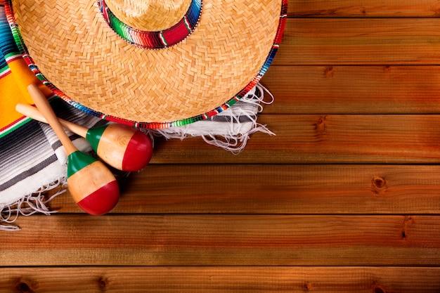 Мексика cinco de mayo лес фон мексиканский сомбреро