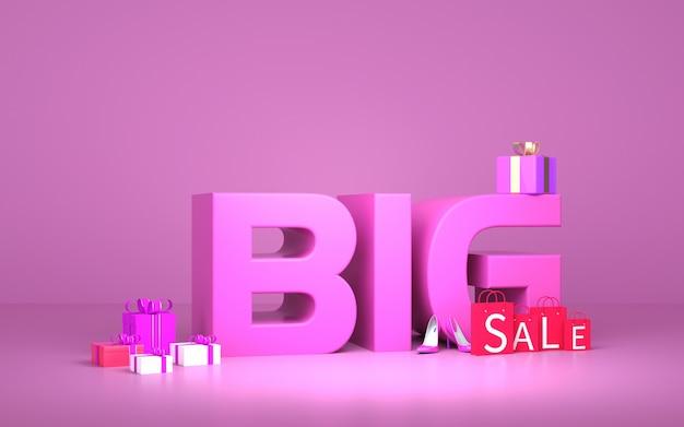 Cinema 4d рендеринг большой продажи фиолетовый фон