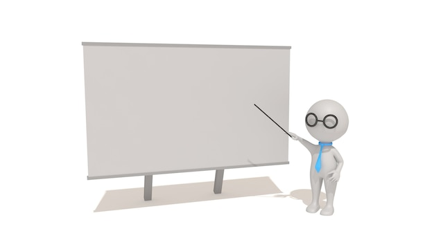 教室での教育イラストのcinema4dレンダリング