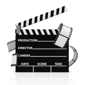 Кино хлопает с изолированной кинопленкой