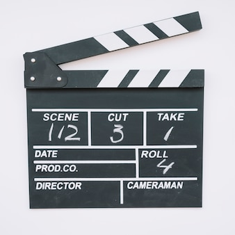 Cinema clapperboard