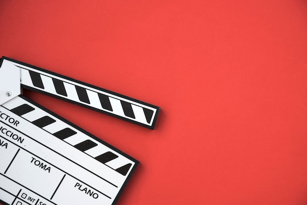 Cinema concept with clapperboard