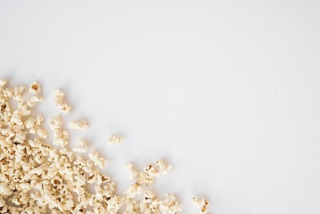 Cinema concept with popcorn background