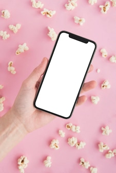 Cinema concept with smartphone template