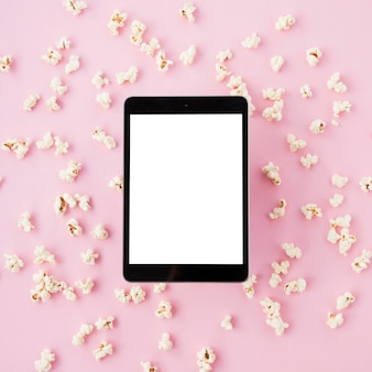 Cinema concept with tablet template