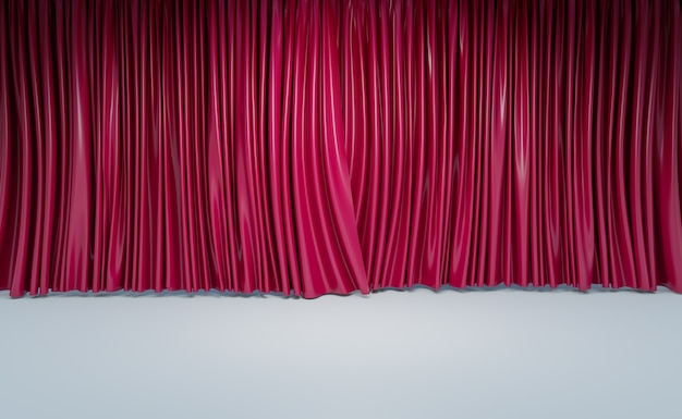 Cinema curtains or home theater room wall, 3d illustrations rendering