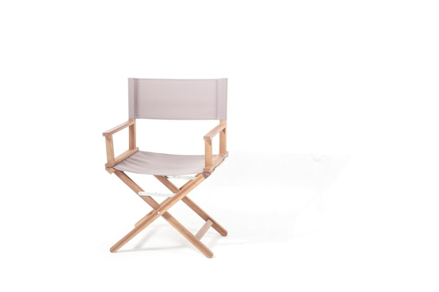 Cinema director chair isolated on white background, copy space right
