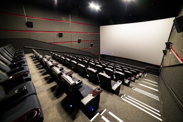 The cinema house. inside. mock up