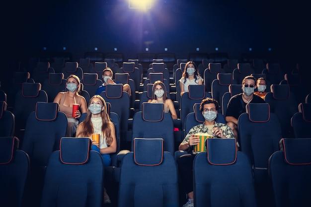 Cinema movie theatre during quarantine coronavirus pandemic safety rules