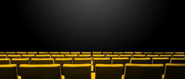 Кинотеатр кинотеатр с желтыми рядами сидений и черным