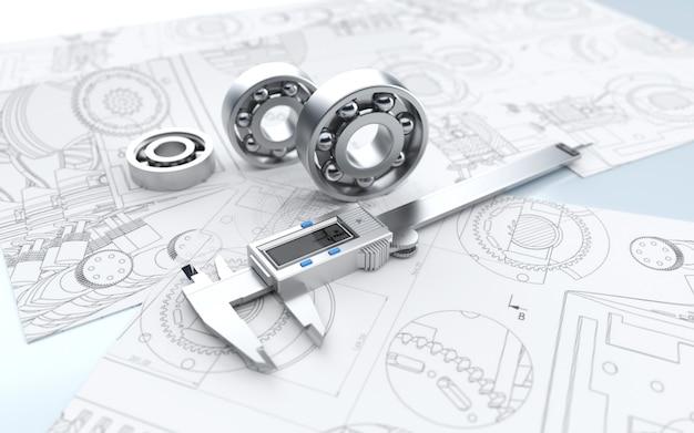 建設計画を構築するためのキャリパーを使用した要約のシネマレンダリング