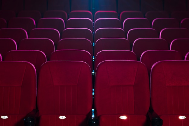 Cinema seats still life