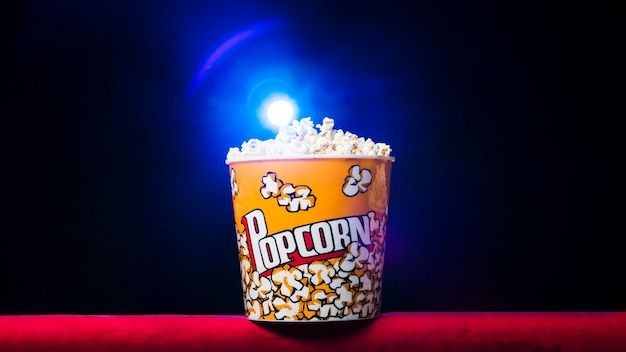 Cinema with popcorn box
