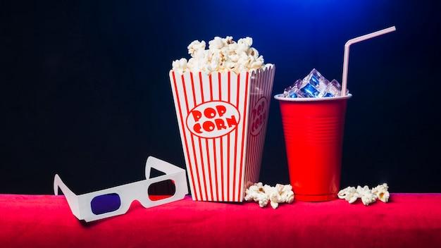 Cinema with popcorn box