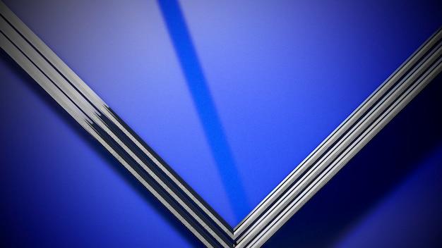 Кинематографический фон с неоновым кругом ob стеной и световым эффектом. роскошный и элегантный стиль 3d иллюстрации темы кино