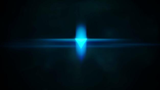 은하계의 네온 모양과 조명 효과가 있는 영화 배경