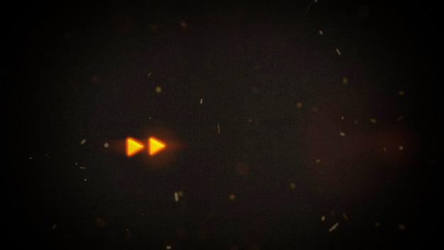 Кинематографический фон с неоновой наградой в форме галактики и световым эффектом. роскошный и элегантный стиль 3d иллюстрации темы кино