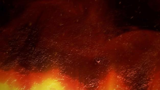 Кинематографическая тема с дымом с частицами и темным фоном. роскошный и элегантный стиль гранж кино темы, 3d иллюстрации