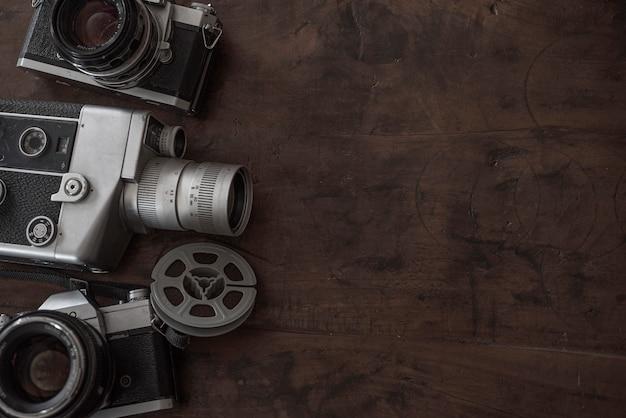 Cinematography vintage bw background