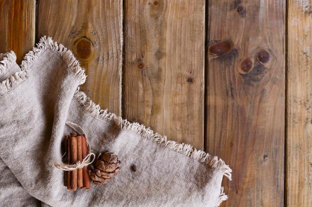 Cinnamon and autumn decor.