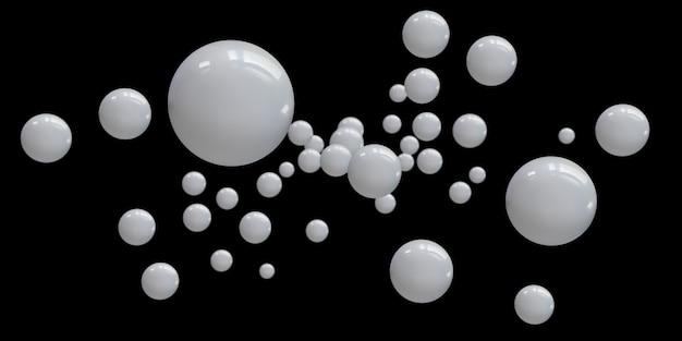원 추상 무료 부동 공 광택 기하학적 배경 3d 그림