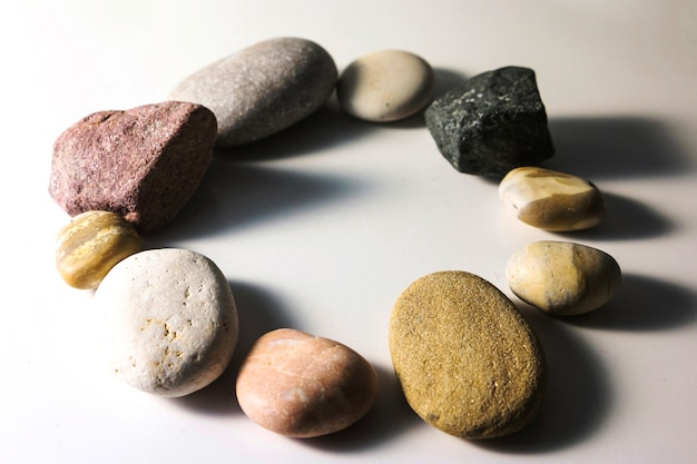 Circle from pebbles