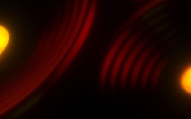 Circle neon light dark brown luxury abstract geometric circle pattern background 3d rendering