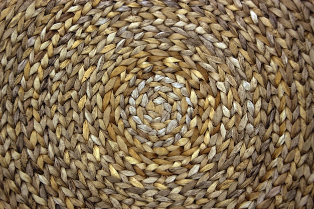Circle pattern from rattan