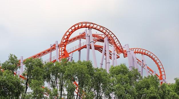 Circle roller coaster track.