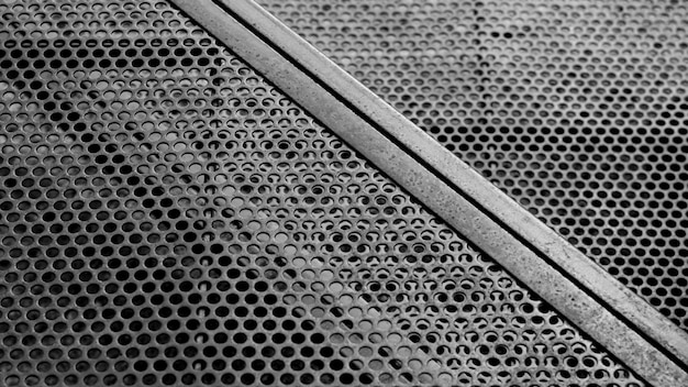 Circle steel grating at construction area.