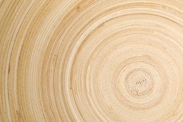 Circle texture of wooden bowl, close up
