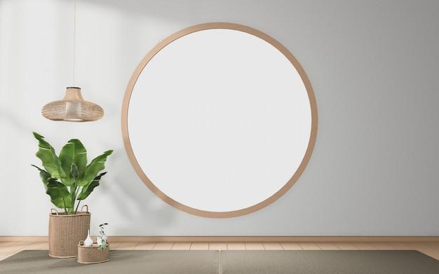 열대 방 일본 인테리어 디자인에 원형 창 디자인