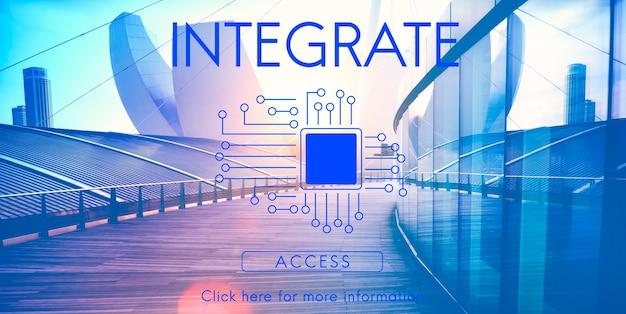 Concetto di tecnologia del circuito integrato del circuito stampato