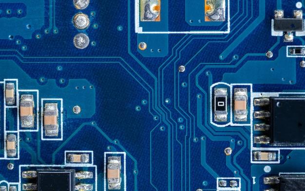 Печатная плата компьютера, текстуры электронного оборудования
