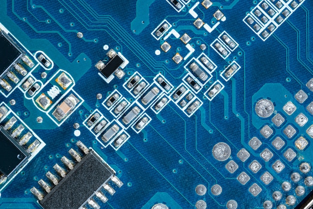 Circuit board computer, electronic hardware texture